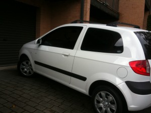 New Car - White Hyundai Getz
